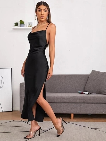 Satin Formal  Dresses Woman | Occasion Formal Dresses Woman Sexy