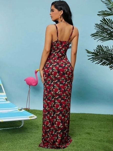Sexy Bodycon Floral Dresses Online   Floral Casual Bodycon Long Dresses