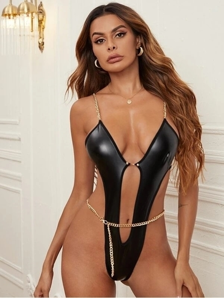 Leather PU Sexy Woman Lingerie Store Women     Sexy Lingerie Leather PU Women